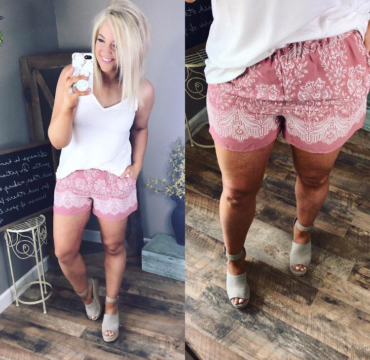Dress Me Up - Mauve High Waisted Shorts