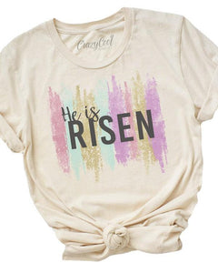 He Is Risen Brushed Tee