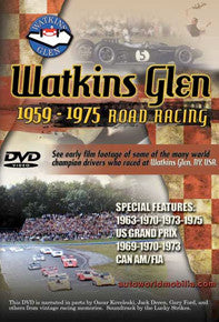 Watkins Glen Road Racing 1959-1975 DVD