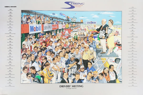 Sebring Driver's Meeting Poster