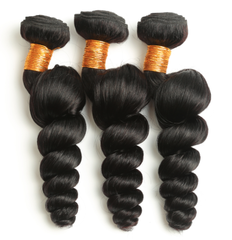 3 loose wave hair extension bundles