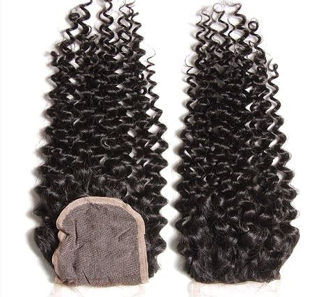 Curly Brazilian lace closure- Remy Hair Extensions