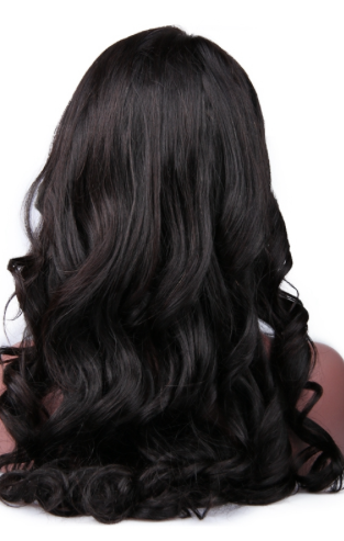 full length view of loose wave 360 Brazilian frontal