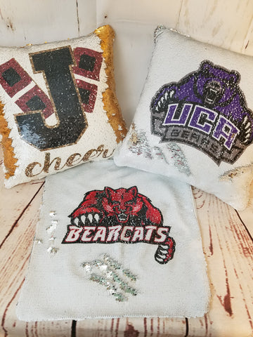 Mascot Sequin Pillow