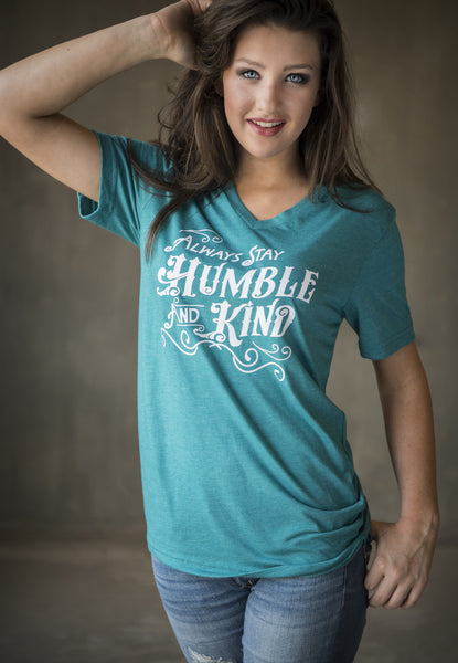 Humble and Kind v-neck tee