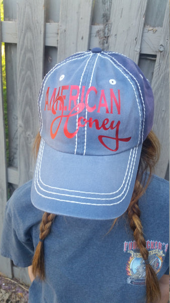 American Honey Cap Denim and Navy Fourth of July Memorial Day Summer Hat
