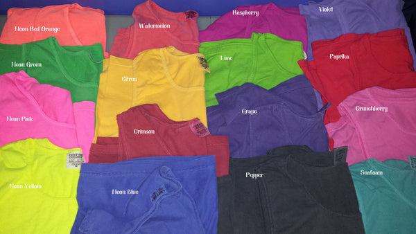 Home State tank - cover up S-XXL Comfort Colors Tank- Customize to your colors, state and city! 19 color choices available
