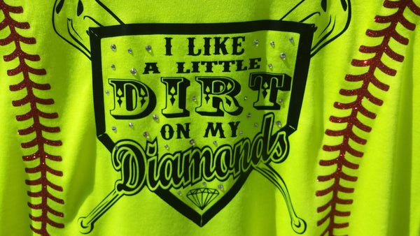 I Like a Little Dirt on my Diamonds Stitches with Crystals tank