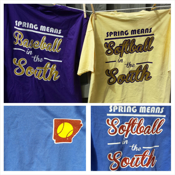 Spring Means Baseball/Softball in the South Comfort Colors shirt S-XXL