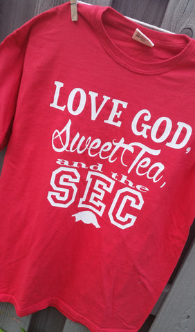 Love God Sweet Tee and the SEC tee shirt - S-XXL Comfort Colors Shirt