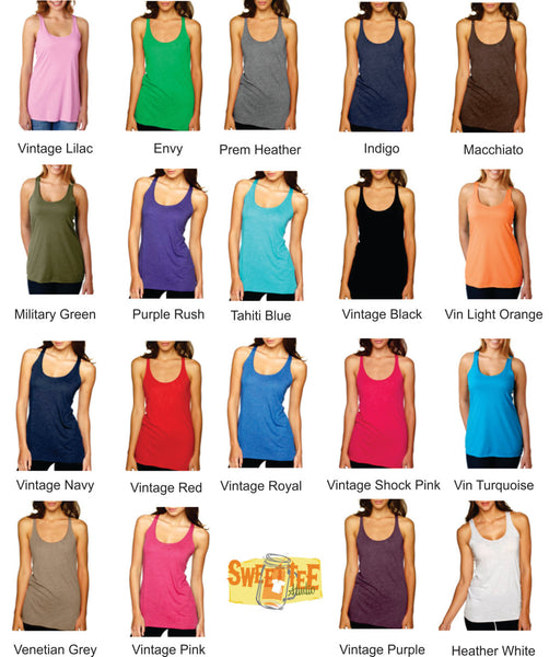 Southern Belle Favorite racerback tank! 15 colors available! Customize to your colors!