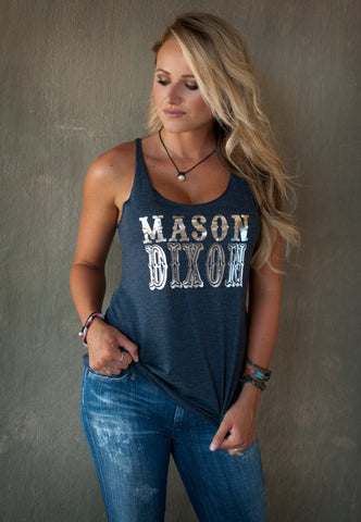 Mason Dixon racerback tank!   15 colors available! Customize to your colors!