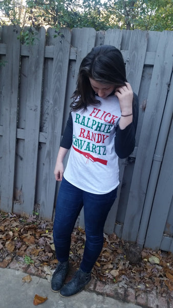 Christmas Story Baseball tee Ralphie Holiday Shirt Perfect for Christmas movie