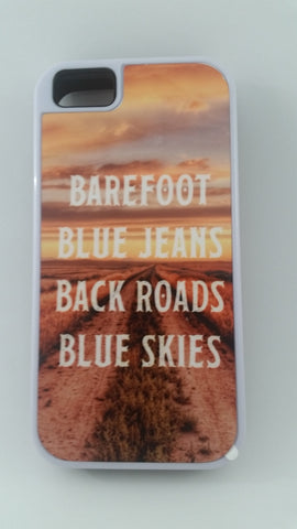 Bare foot, Blue Jeans,Back Roads, Blue skies Phone Tough Case