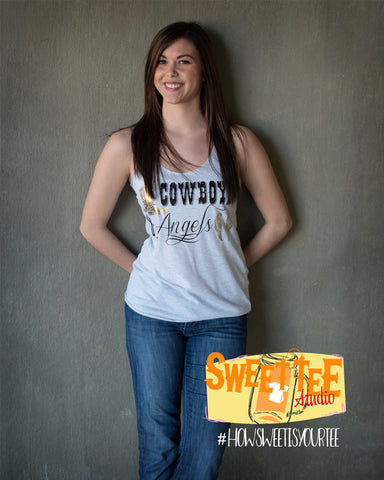 Cowboys and Angels Racerback Tank