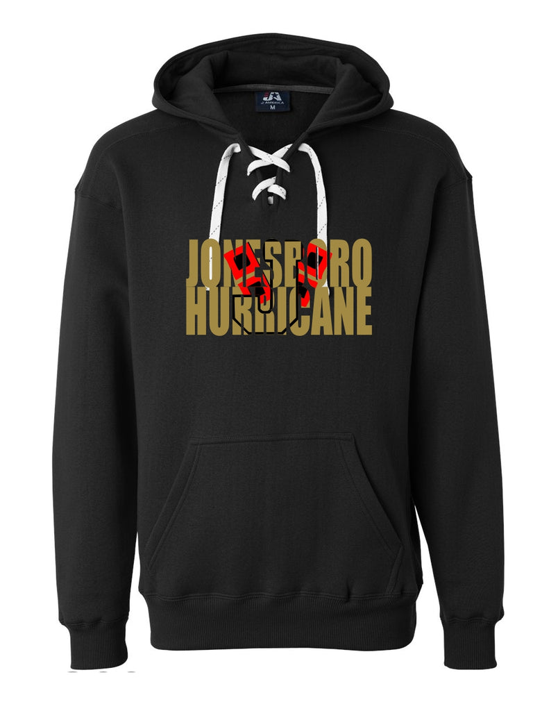 Jonesboro Hurricane Knockout Lace Up Hoodie