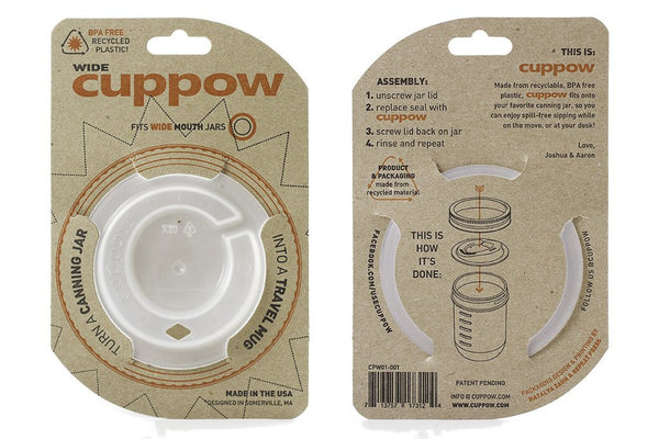 Cuppow® Canning Jar Drinking Lid - Wide Mouth