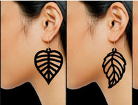 "LEAF Shaped Full Grain Leather Earrings - SMALL (1""-1.5"" Varied)"