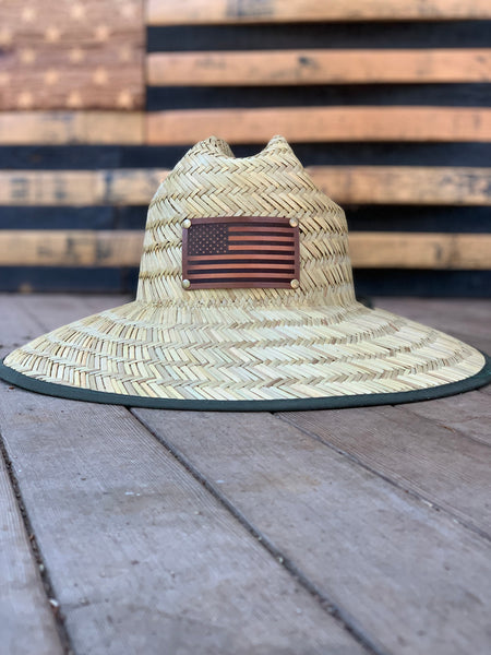 Straw Leather Patch Hat