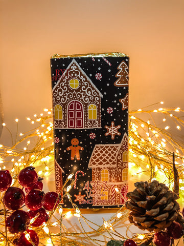 Gingerbread - Milk Chocolate Bar - 43.5% Venezuelan with Christmas design