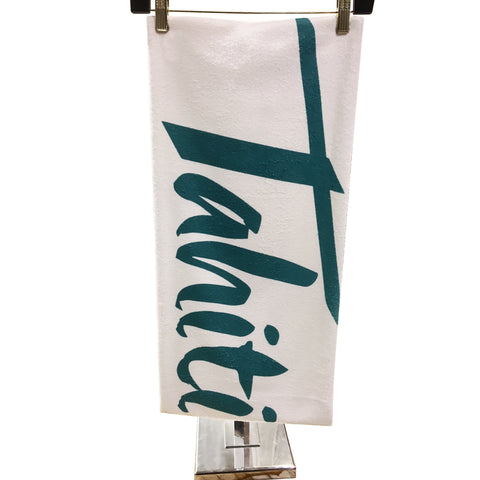 Tahiti Village Beach Towel Cotton