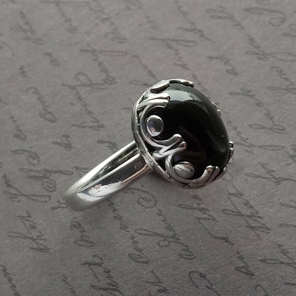 Stevie 1 Handmade Star Sapphire and Sterling Silver Ring