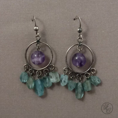 Limited Edition: Charlotte Aquamarine and Amethyst Earrings