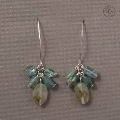 Limited Edition: Naomi Aquamarine and Prehnite Earrings