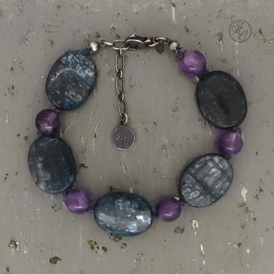 Limited Edition Billie Kyanite and Amethyst Bracelet