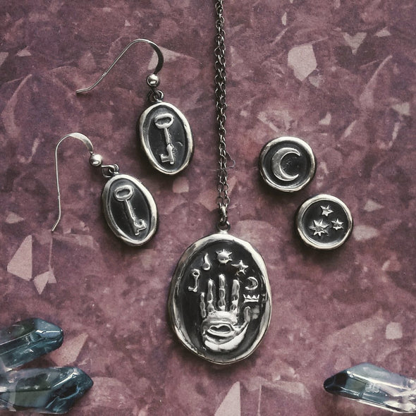 Dark Academic and Witchy jewelry assortment by Fennel & Clark