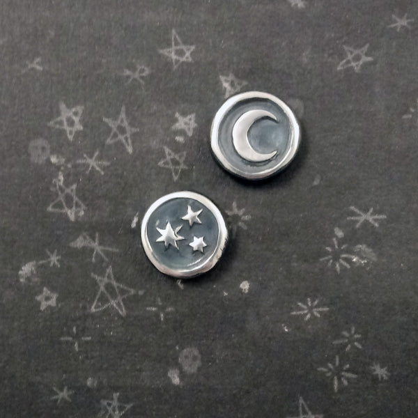 Pleiades Wax Seal Earrings