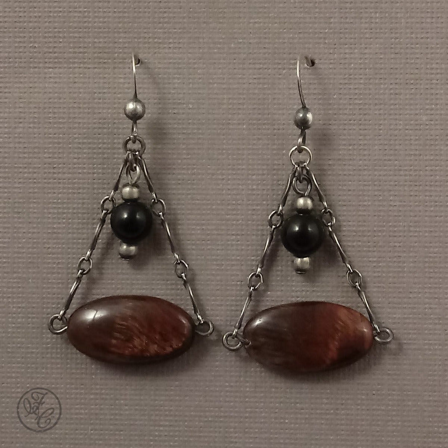 Limited Edition: Riley Tiger Eye & Agate Earrings