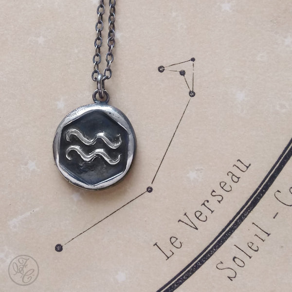 Aquarius Wax Seal Pendant
