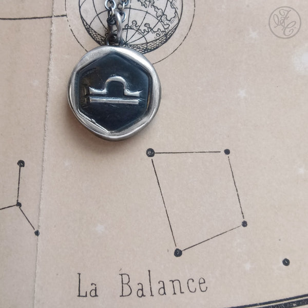 Libra Wax Seal Pendant