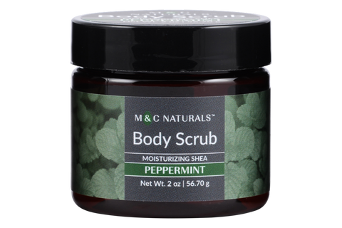Body Scrub - Moisturizing Shea Mini Size (Peppermint)