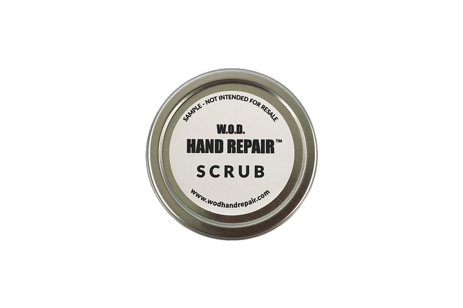 W.O.D. Hand Repair Scrub Sample