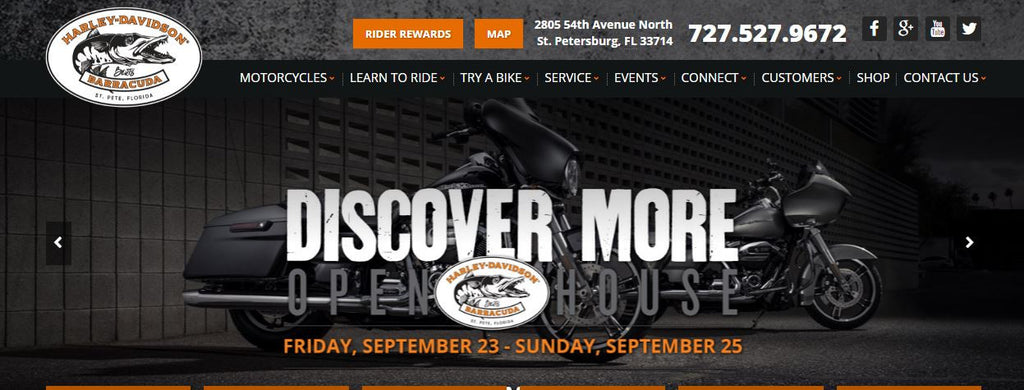 Meet Us at BERT'S BARRACUDA HARLEY-DAVIDSON