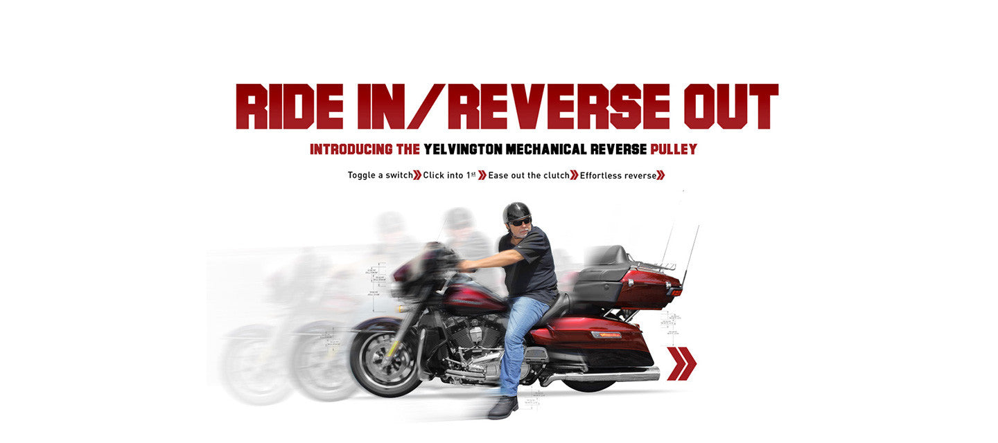 Mechanical Reverse Pulley - Yelvington USA - Harley-Davidson Reverse, Suspension and Trike Conversions