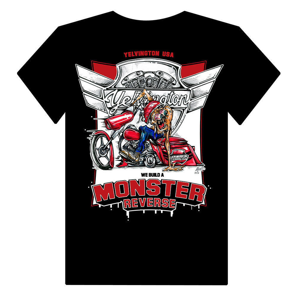 Monster Reverse T-Shirt w/ Poker Chip - Yelvington USA - Harley-Davidson Reverse, Suspension and Trike Conversions