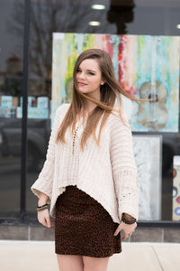 Almond Chenille Sweater