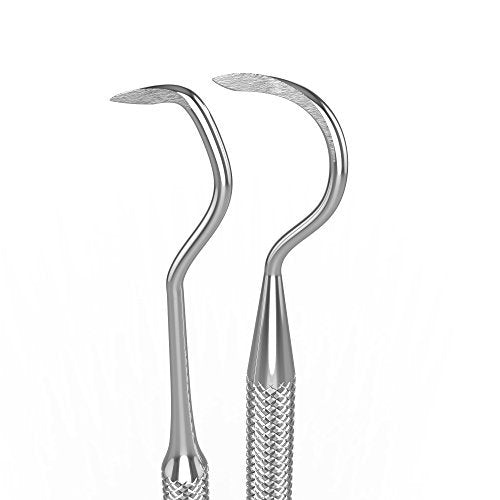 Professional Dental Scraper | 100% Stainless Steel Double Ended Dental Scaler Instrument | Perfect Tool For At Home Oral Hygiene & Care – Scraper Picks at Tartar & Plaque for Removal