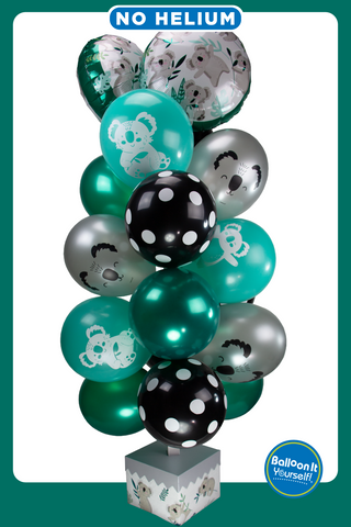 Koala Balloon It Yourself! balloon stand with air-filled balloons. No Helium!!