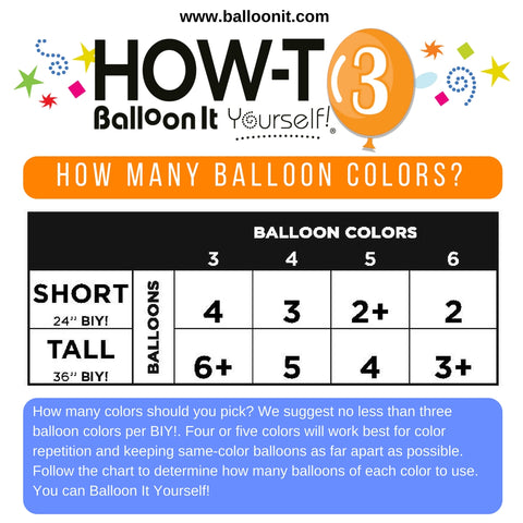 How-To BIY! | HOW MANY BALLOON COLORS?
