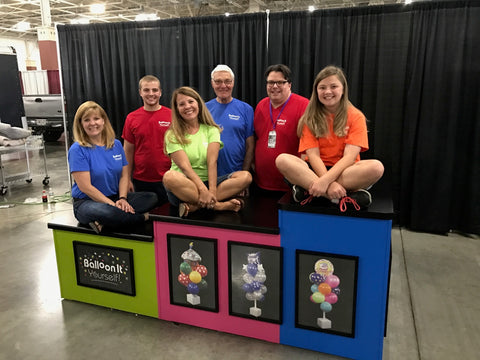 The Balloon It family at Wisconsin State Fair, 2017