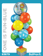 Load image into Gallery viewer, One Is Fun, Blue Balloon It Bunch. All-in-one complete DIY Kit (1) - Balloon It