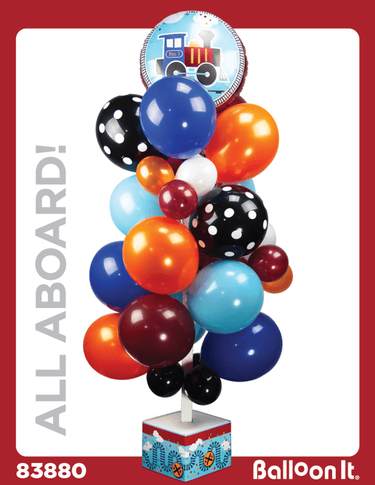 All Aboard Balloon It Bunch. All-in-one complete DIY Kit (1) - Balloon It