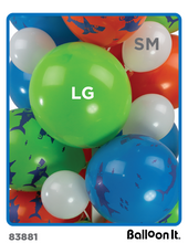 Load image into Gallery viewer, Shark Bite Birthday Balloon It Bunch. All-in-one Complete DIY Kit (1) - Balloon It