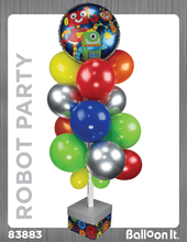 Load image into Gallery viewer, Robot Party Balloon It Bunch. All-in-one complete DIY Kit (1) - Balloon It