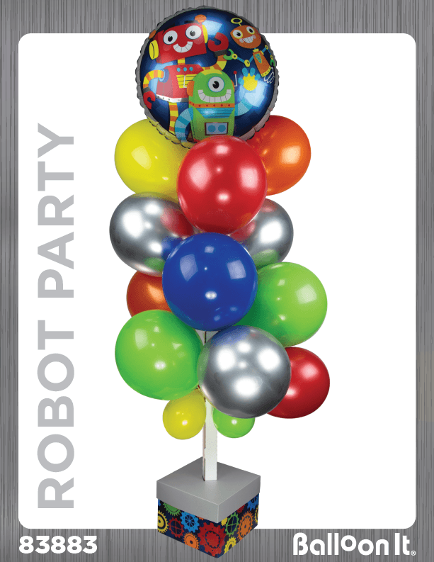 Robot Party Balloon It Bunch. All-in-one complete DIY Kit (1) - Balloon It