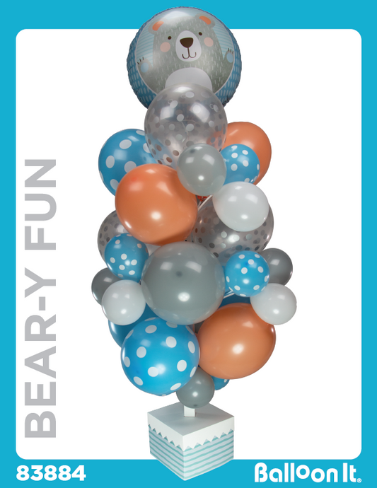 Bear-y Fun Balloon It Bunch. All-in-one complete DIY Kit (1) - Balloon It
